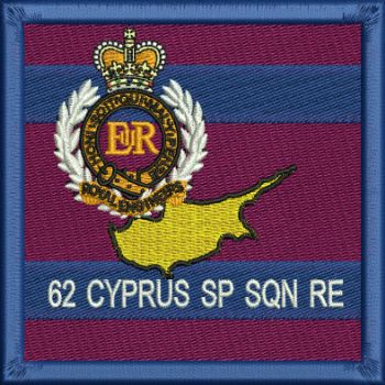 62 Cyprus SP SQN RE embroidered badge
